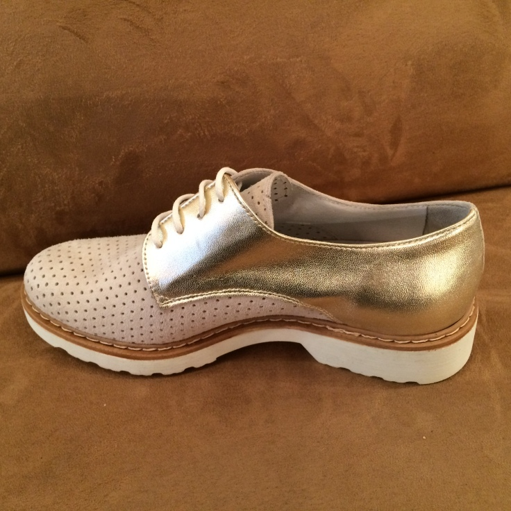 gold metallic oxford