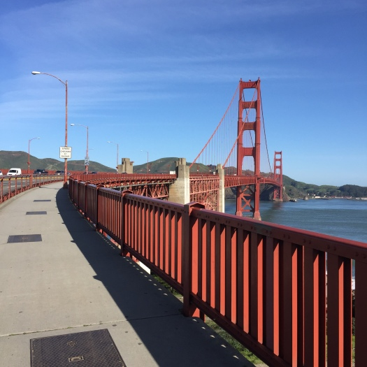 walkway of Golden Gate looking north